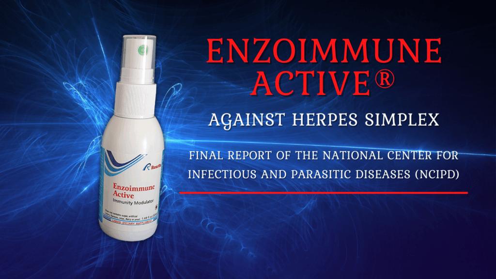 Enzoimmune Active against Herpes Simplex